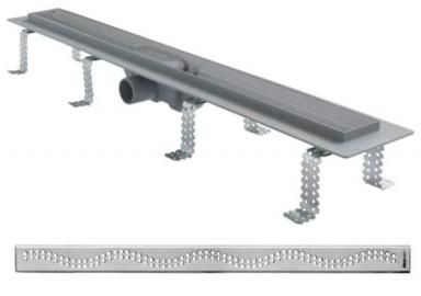 Alcaplast Liniový podlahový plastový žlab APZ8-850