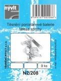 Sada - těsnění porcelánové baterie; 9 ks - N2/208