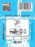 Sada - těsnění porcelánové baterie; 13 ks - N2/207