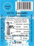 SADA - těsnění umývadl. sifonu DN40 - nový typ SAM Myjava - L3/195