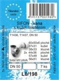 SADA - těsnění vanového sifonu s kužel. těsněním T1436 T1437 DN50 - L6/198