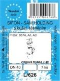 SADA - těsnění umývadl. sifon - SAM Holding P-957 A A/I AC DN 40 - L/626
