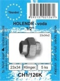 """SADA - těsnění ploché - bezazbest - holendr 1/2"""" - 23 x 34 x 2 mm - CH1/126K - nahzazuje CH1/126B"""