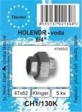 """SADA - těsnění ploché - bezazbest - holendr 6/4"""" - 47 x 62 x 2 mm - CH1/130K"""