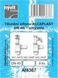 SADA - těsnění umyvadlového sifonu Alcaplast (i s odbočkou) DN40 - A/4367