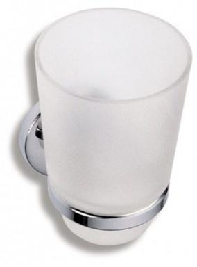 NOVASERVIS 6106,0 Držák kartáčků a pasty sklo Metalia 1 chrom