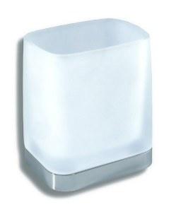 NOVASERVIS Metalia 4 Držák kartáčků a pasty sklo, chrom 6406,0