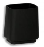 NOVASERVIS Metalia 4 Držák kartáčků a pasty na postavení sklo, černá -chrom 6406/1,5