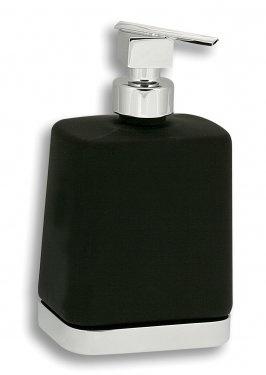 NOVASERVIS Metalia 4 Dávkovač mýdla sklo, černá - chrom