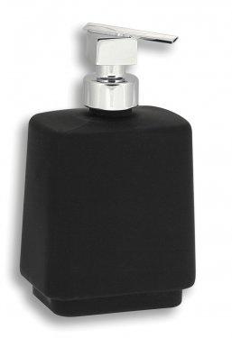 NOVASERVIS Metalia 4 Dávkovač mýdla na postavení sklo, černá - chrom
