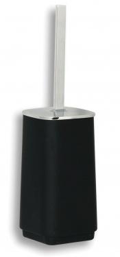 NOVASERVIS 6433/1,5 WC štětka na postavení Metalia 4 černá-chrom