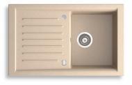 NOVASERVIS DRG50/81S Granitový dřez s odkapem, magranit písek,s přepadem z dřezu
