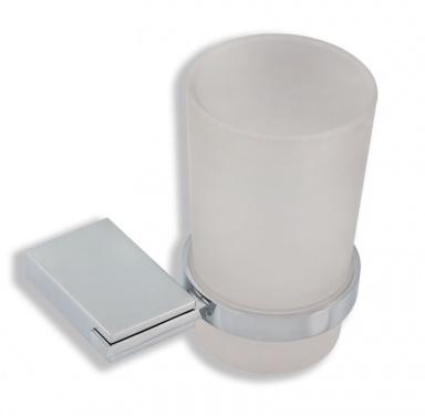 NOVASERVISDržák kartáčků a pasty sklo Metalia 9 chrom