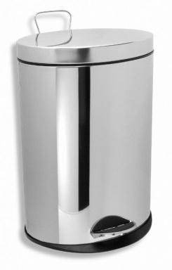 NOVASERVIS 6160,0 Odpadkový koš kulatý 5 l chrom
