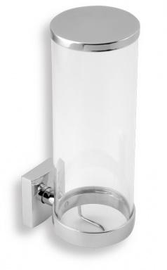 NOVASERVIS Zásobník na kosmetické tampony sklo Metalia 12 chrom