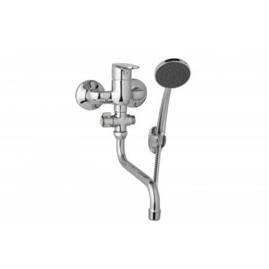 JB SANITARY D10 37 31 TIRA Nástěnná umyvadlová a sprchová baterie s ramínkem T 200 mm, rozteč 150 mm