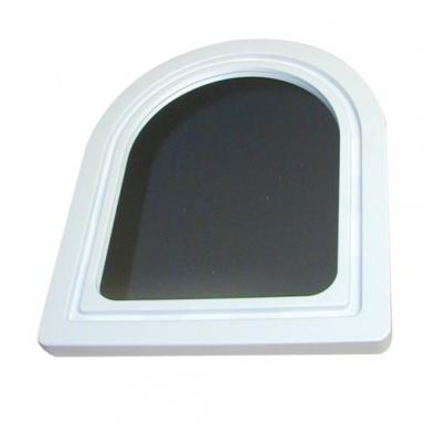 zrcadlo PORTÁL půlkulaté 48,5x40cm (velké) mix barev