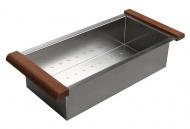 Nerezový košík ke dřezům EPIC a ZERO, 22x44x10 cm