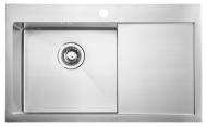 KIVA nerezový dřez s odkapem,79x48x20 cm, provedení L, R10