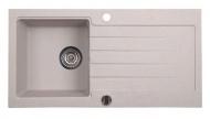 Dřez granitový vestavný s odkapávací plochou, 86x43,5 cm, béžová