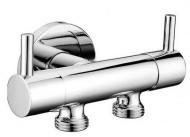 Dvojventil pro napojení bidetové spršky a WC, chrom