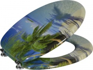 FUNNY WC sedátko s potiskem palma, MDF