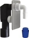 Podomítkový pračkový sifon 40/50mm, nerez