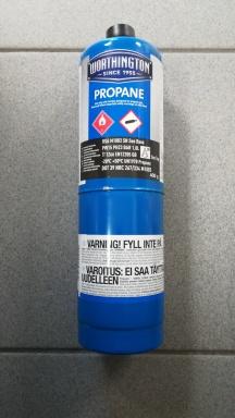 """Plyn Propane BernzOmatiC 399,7 g láhev CGA 600 s vnějším závitem 3/4""""- UNEF 20 RH"""