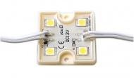 LED modul 4xSDM5050, 36x36x6mm, studená bílá