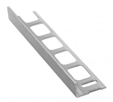 Lišta k obkladům L, kartáčovaný eloxovaný hliník, L250cm, 10mm
