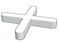 Plastové křížky do obkladů, 1mm, 200ks