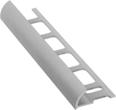 Lišta k obkladům O, matný eloxovaný hliník, L250cm, 10mm