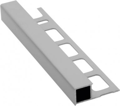 Lišta k obkladům H, matný eloxovaný hliník, L250cm, 10mm