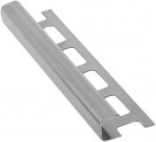Lišta k obkladům H, nerez pololesk, L250cm, 10mm