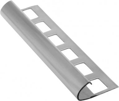 Lišta k obkladům O, nerez pololesk, L250cm, 8mm