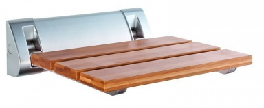 Aqualine Sprchové sedátko 32 x 32,5 cm sklopné bambus AE236