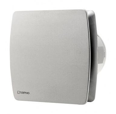 LEX koupelnový ventilátor axiální s časovačem, 15W, potrubí 100mm, nerez