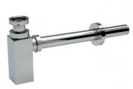 SAGITTARIUS 04000/QUAD sifon umyvadlový DN 32, bez odtokového ventilu, hranatý - kovový