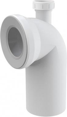 ALCAPLAST Dopojení k WC s připojením DN40 – koleno 90° (A90-90P40)