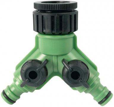 Rozdvojka AquaStar s ventily pro 2 rychlospojky AQ22235