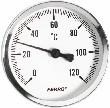 "NOVASERVIS Teploměr 80mm 1/2"" axiální 0 - 120°C T80120A"