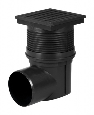 HACO Kanalizační vpusť boční KVB DN 110 černá HC0510