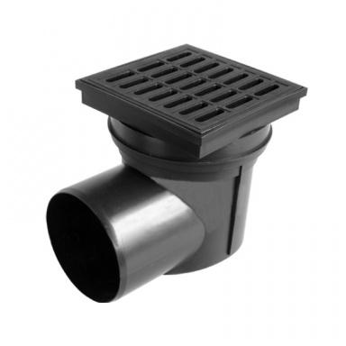 Chuděj kanalizační vpusť KVB 110 boční, vodní klapka, mřížka plast 324 V