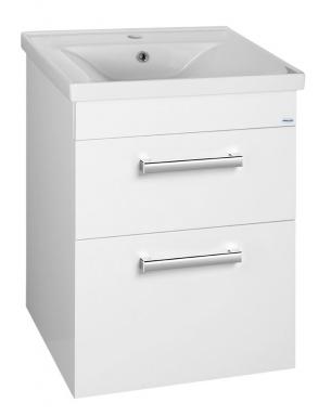 POLY umyvadlová skříňka 51,8x74,6x44 cm, 2xzásuvka, bílá