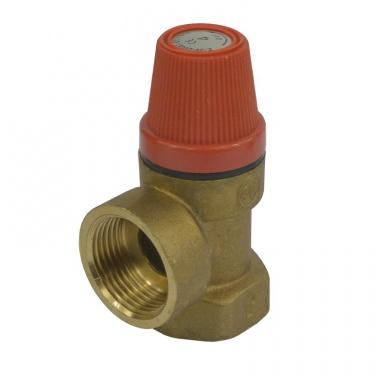 """Klum Pojišťovací ventil pro bojler s pevně nastaveným tlakem 1/2"""" 6 bar PR2413C"""