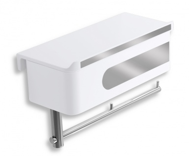 NOVASERVISWC polička se zásuvkou a držákem toaletního papíru