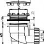 NOVASERVISSifon vaničkový 60/40 INOX plast
