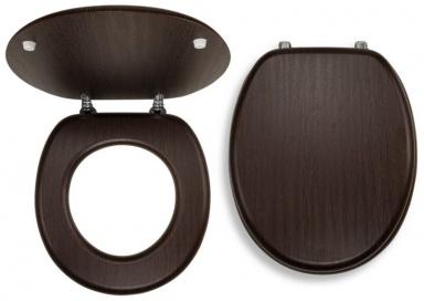 NOVASERVIS WC/WENGE Sedátko dýhované dřevo