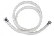 NOVASERVIS PVC/155,1 Plastová hadice 150 cm bílá-chrom