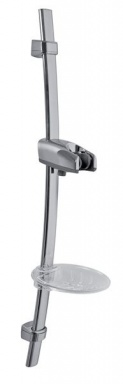 NOVASERVIS RAIL502,0 Posuvný držák sprchy s mýdlenkou chrom